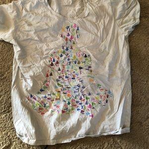Yoga poses t-shirt size L